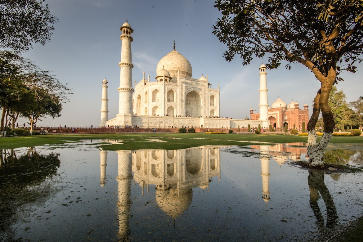The Taj Mahal, India. Palace on Wheels