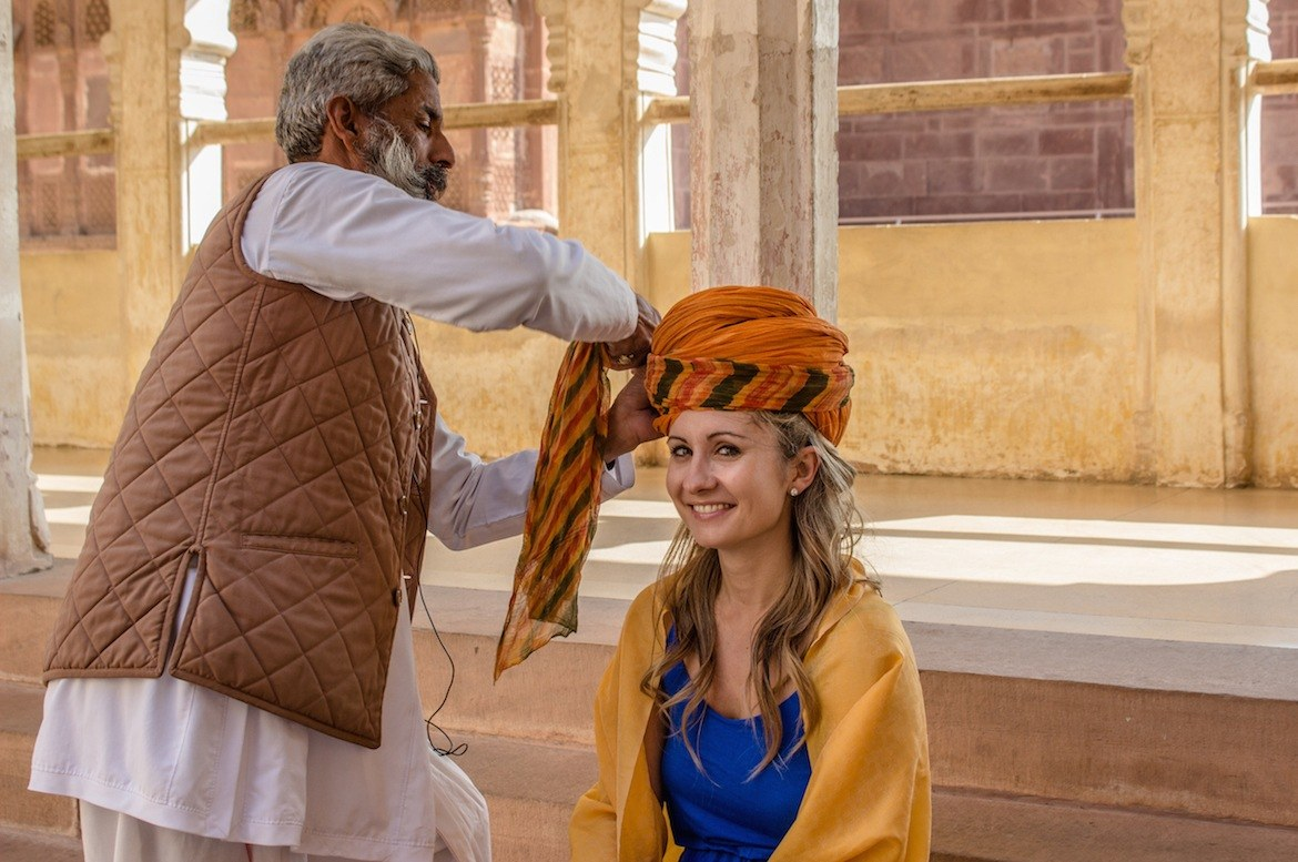 Palace on Wheels Turban tying