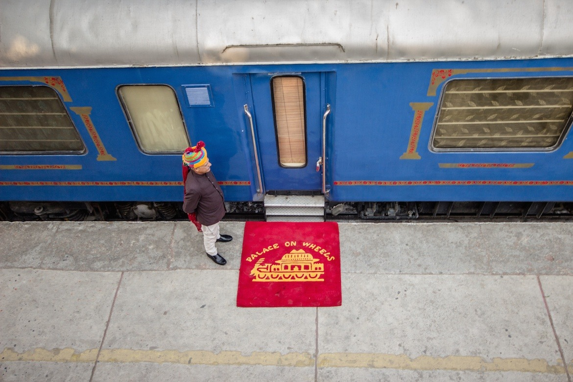 The Palace on Wheels train in India
