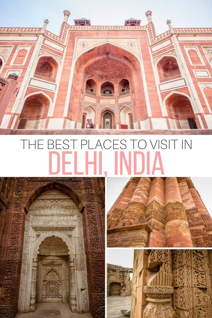 Highlights of some of the best places to visit in #Delhi, #India for sightseeing and photography, including Humayan's Tomb, Qutub Minar, India Gate and the presidential palace.