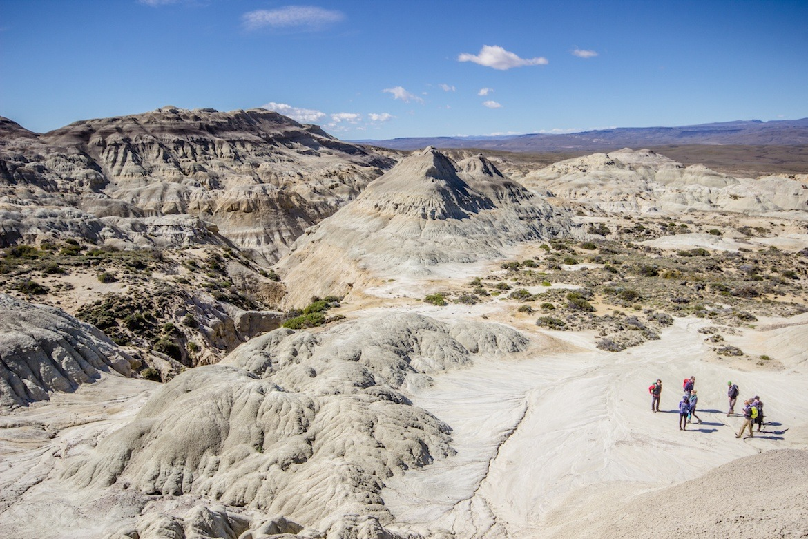 La Leona, a petrified forest in Patagonia, Argentina