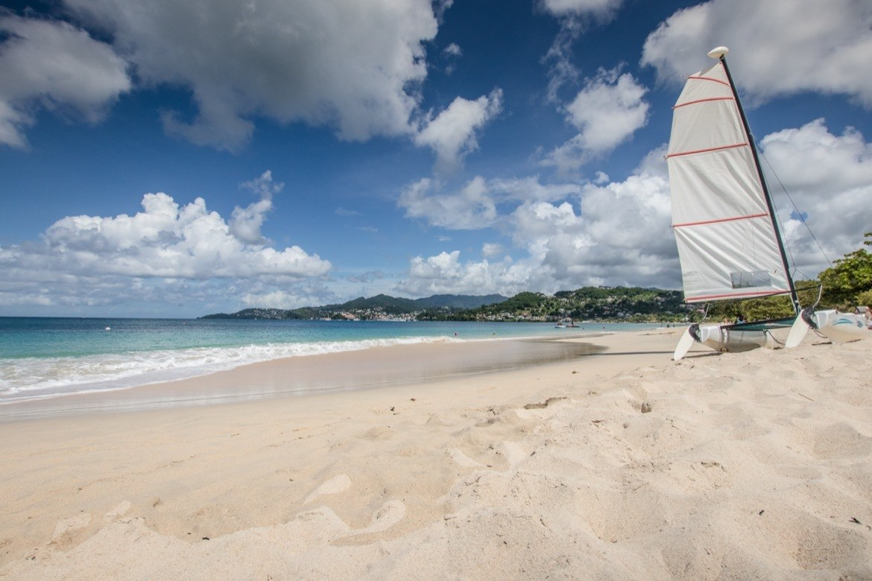 A boat at Grand Anse in Grenada