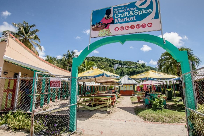 The spice market in Grand Anse, Grenada