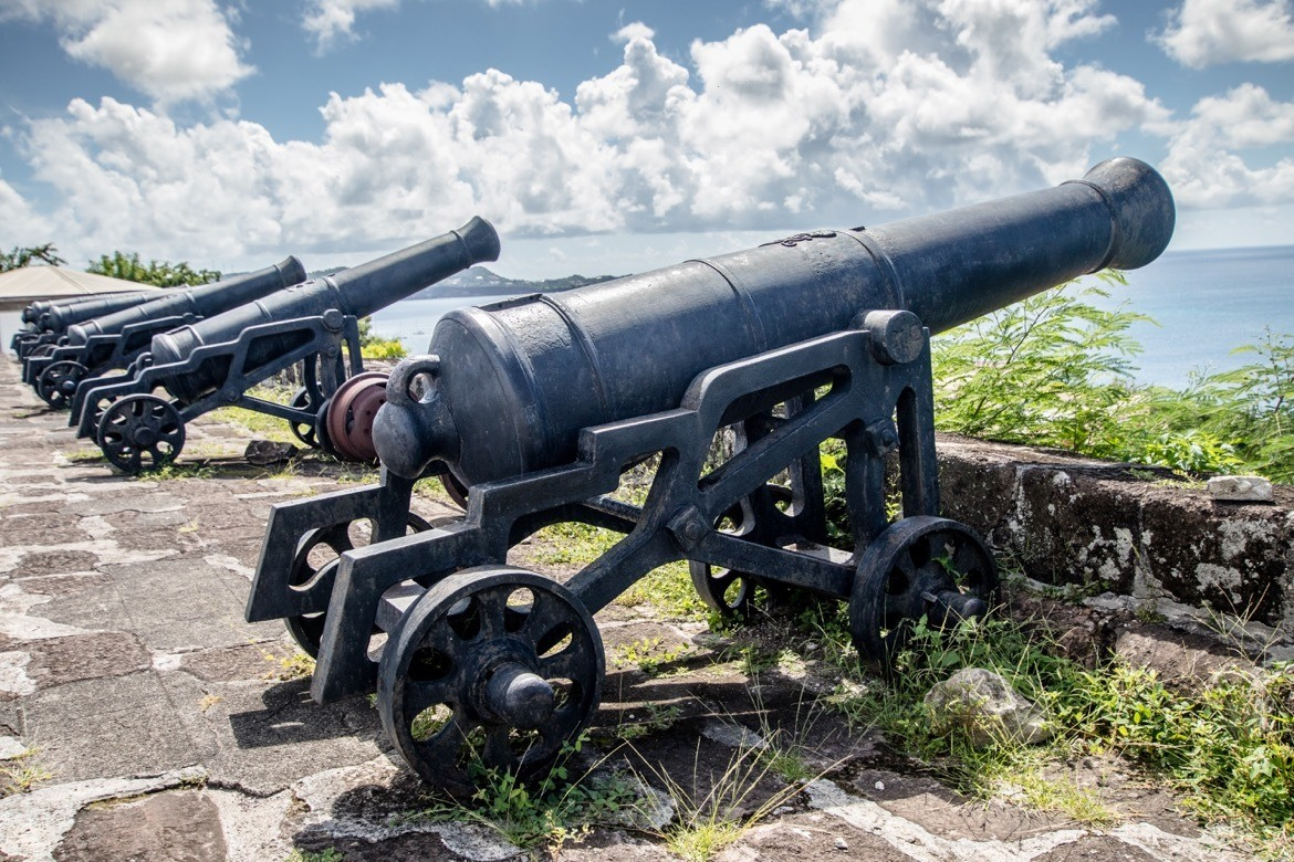 The cannons at Fort George in Grenada