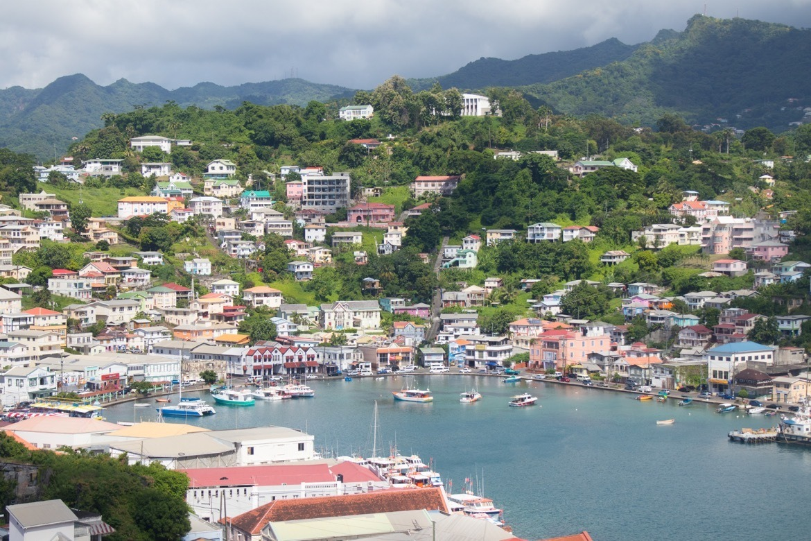 The harbour in St. George's, Grenada