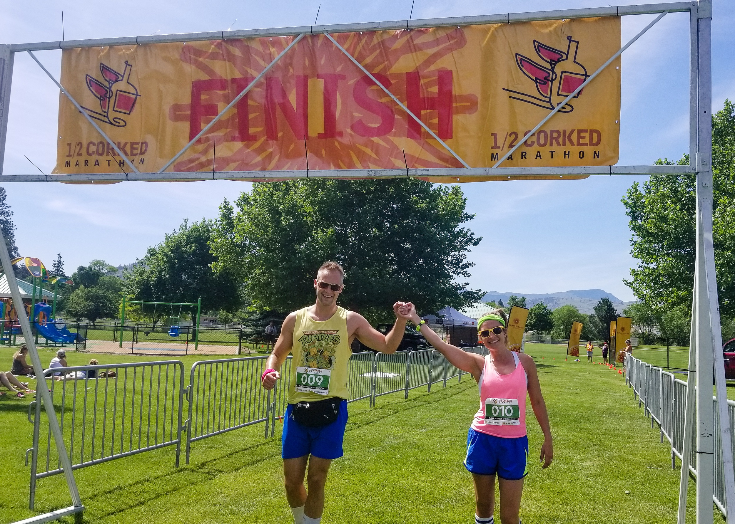Half Corked Marathon wine run in Osoyoos, B.C.
