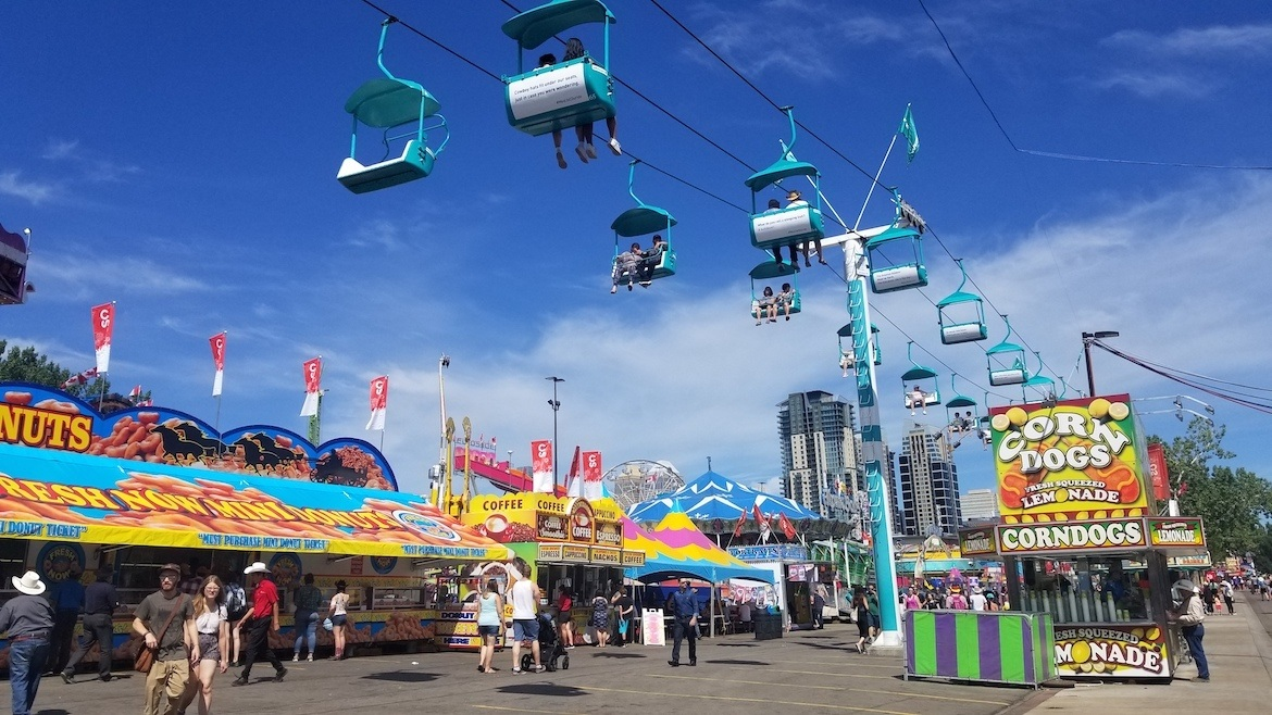 The Skyride at the Calgary Stampede