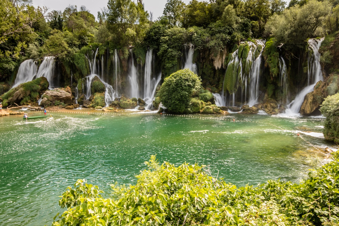 The Kravice waterfalls are one of the best day trips from Dubrovnik, Croatia