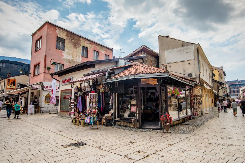 The old town in Sarajevo, Bosnia Sarajevo Baščaršija