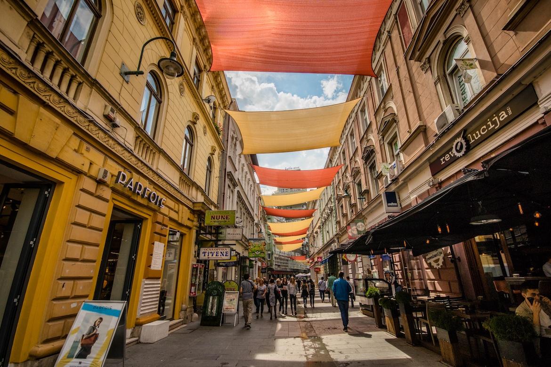Ferhadija street in Sarajevo, Bosnia