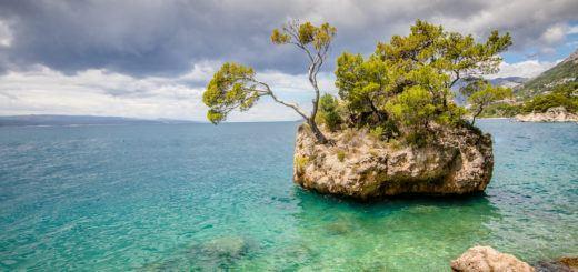 Punta Rata Beach in Brela, Croatia