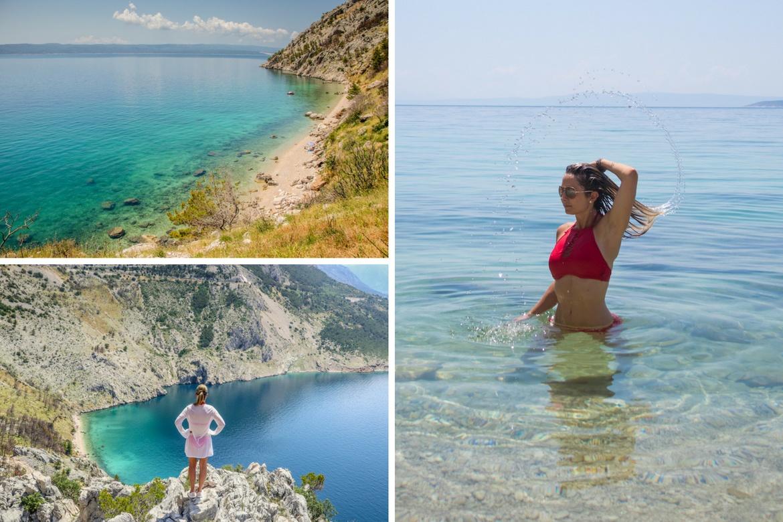 Vrulja Beach in Makarska Riviera, Croatia