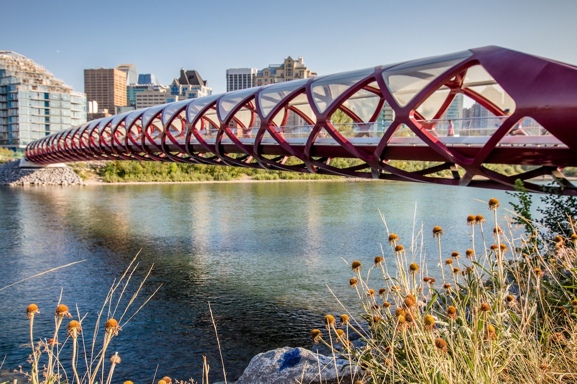 The Peace Bridge in Calgary, Alberta