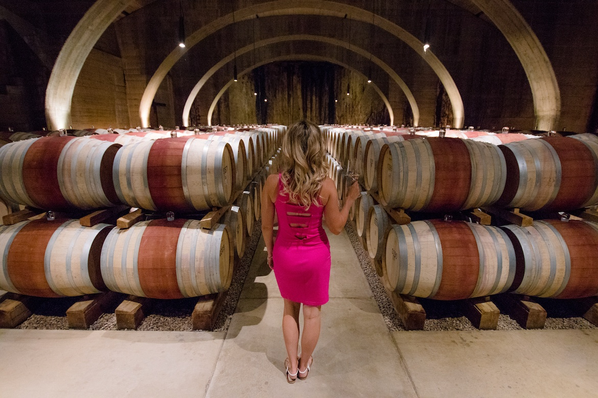 The underground wine cellars at Mission Hill Family Estate in Kelowna, B.C.