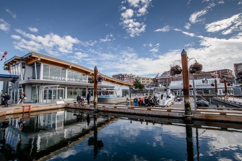 The seaplane dock in Victoria, B.C.