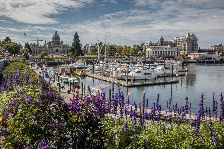 The inner harbour in Victoria, B.C.