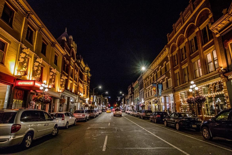 Downtown Victoria, B.C. at night