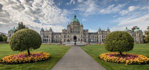 The British Columbia Parliament Buildings in Victoria, B.C.