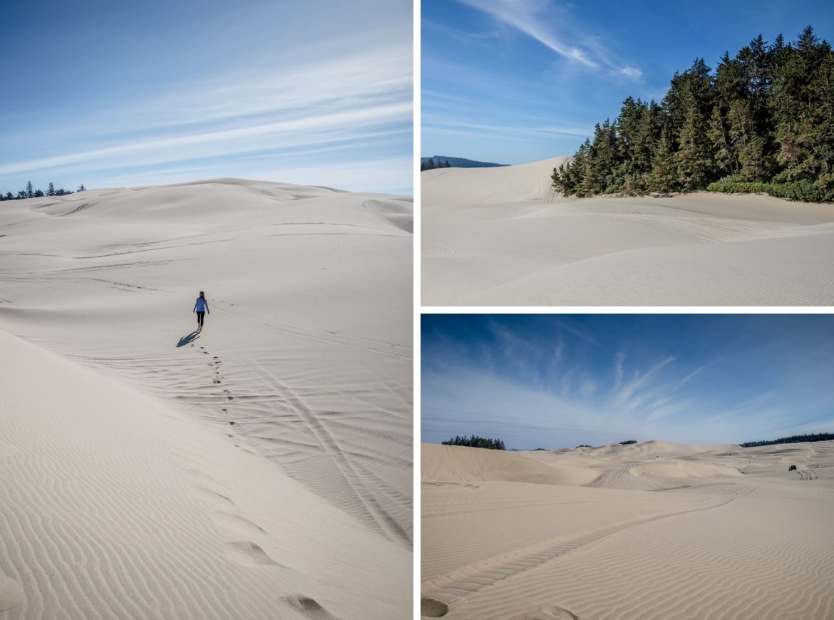 Florence sand dunes, Oregon coast road trip