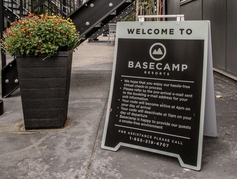 Automatic check-in at Basecamp Resorts in Canmore