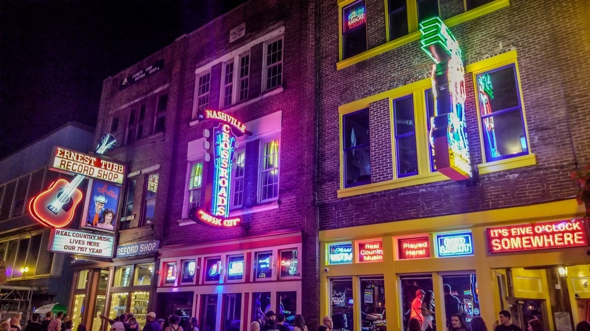 Lower Broadway- Nashville itinerary for three days in Nashville