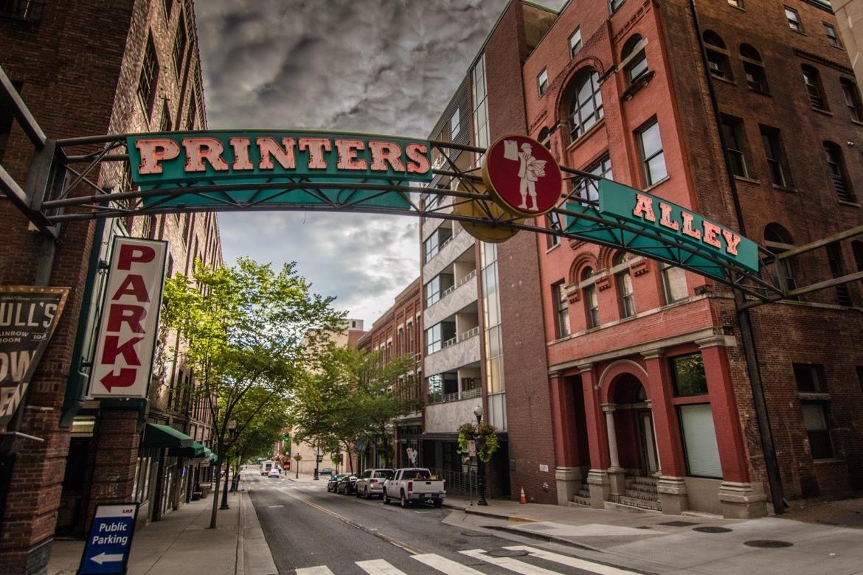 Printer's Alley-Nashville itinerary for three days in Nashville