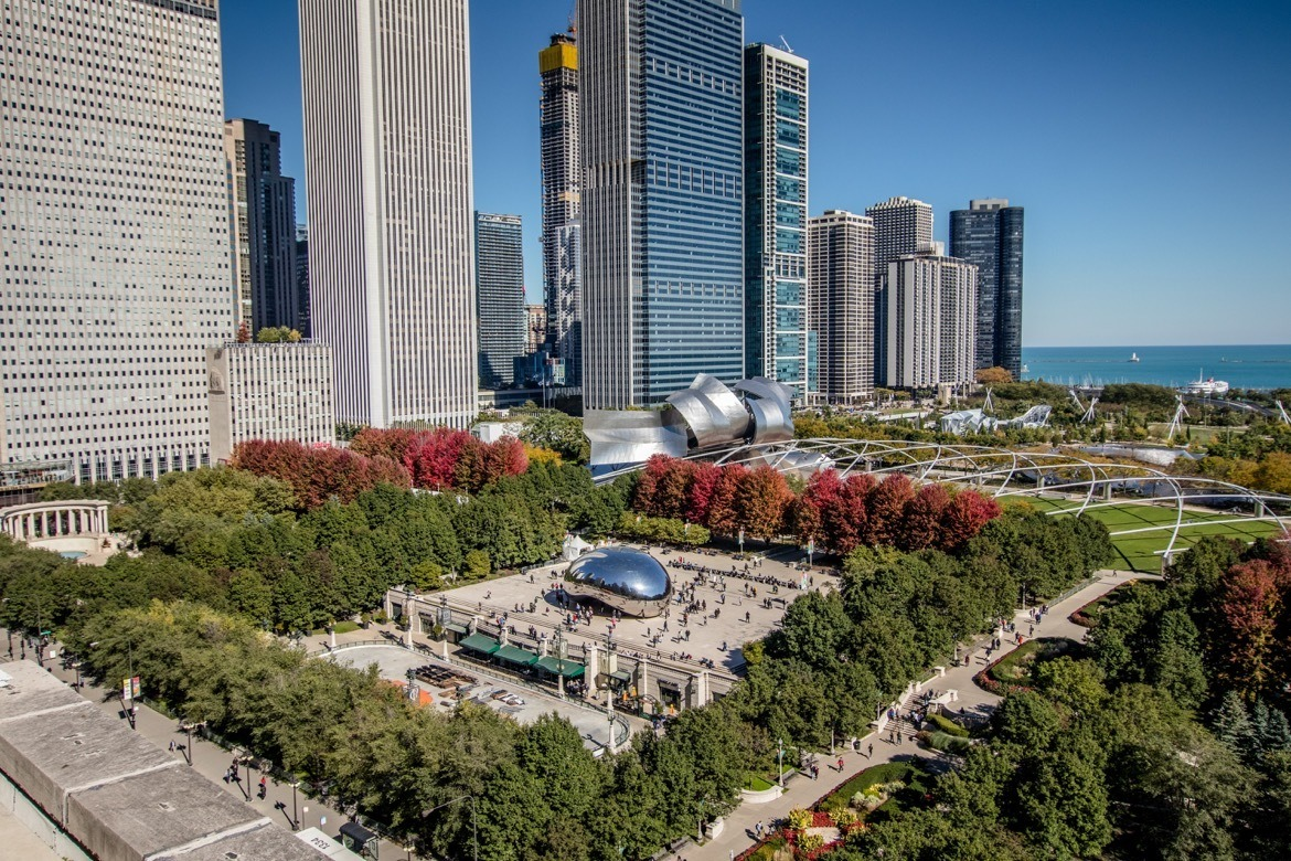 The view of Cloud Gate from Cindy's. The perfect two day Chicago itinerary to hit the best photography spots