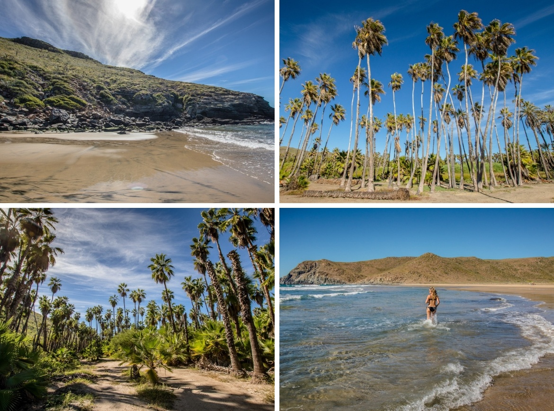 Las Palmas, Baja beaches in Baja California Sur, Mexico