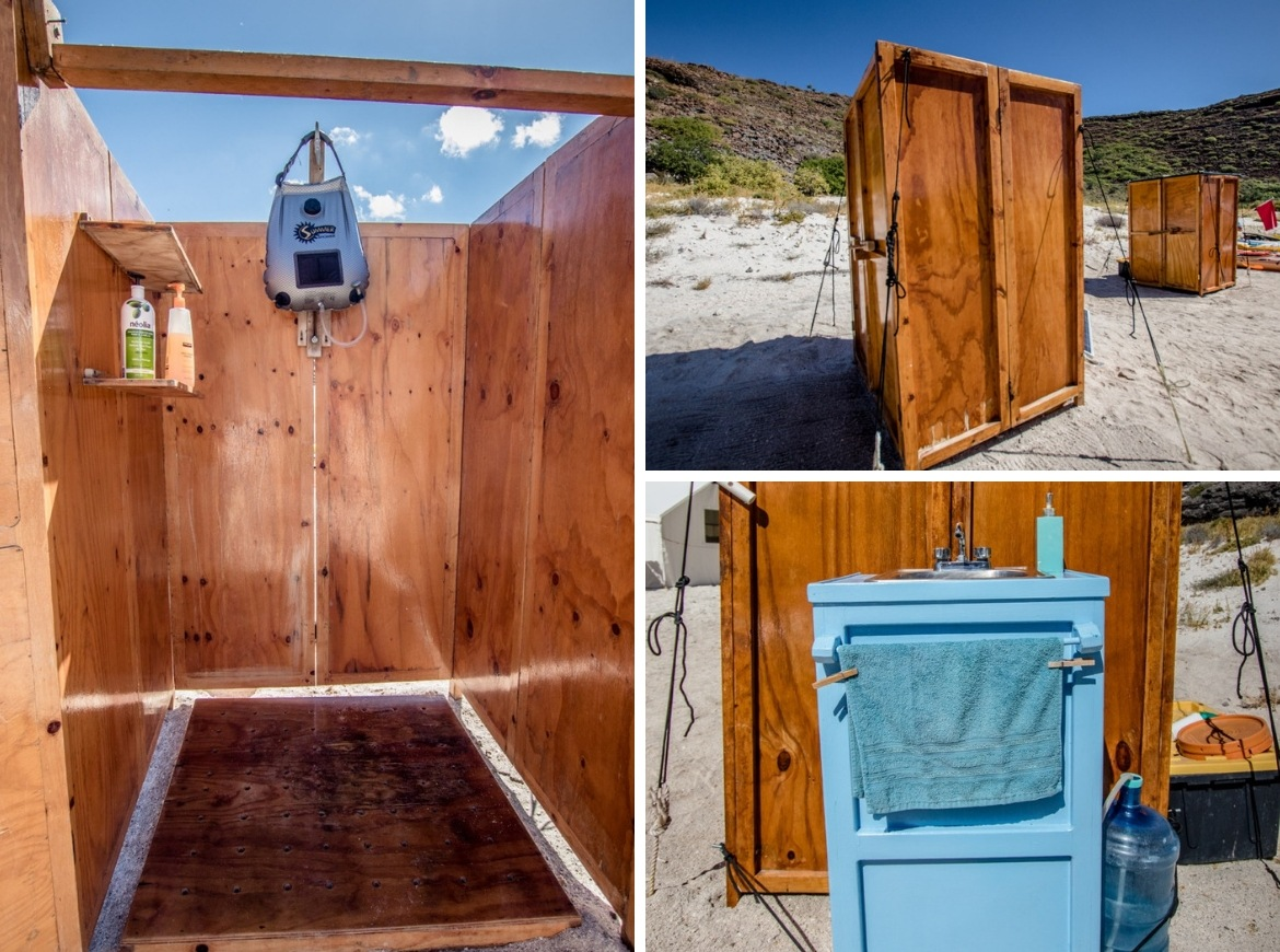 Camp Cecil Mexico glamping bathrooms