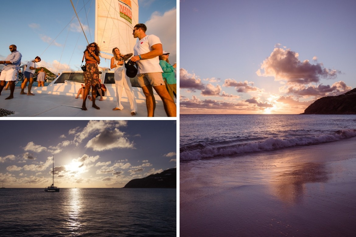 A sunset sail in St. Maarten is one of the top things to do