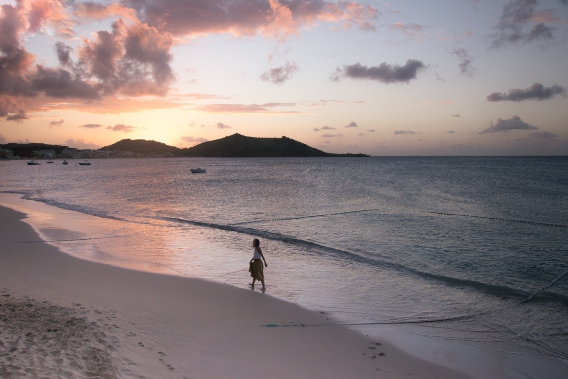 Sunset in Grand Case. Things to do in St Maarten and St Martin