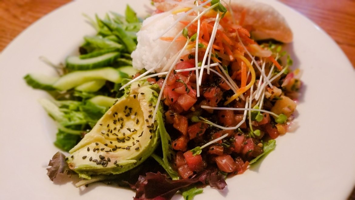 The Poke Bowl at The Flying Steamshovel Gastropub