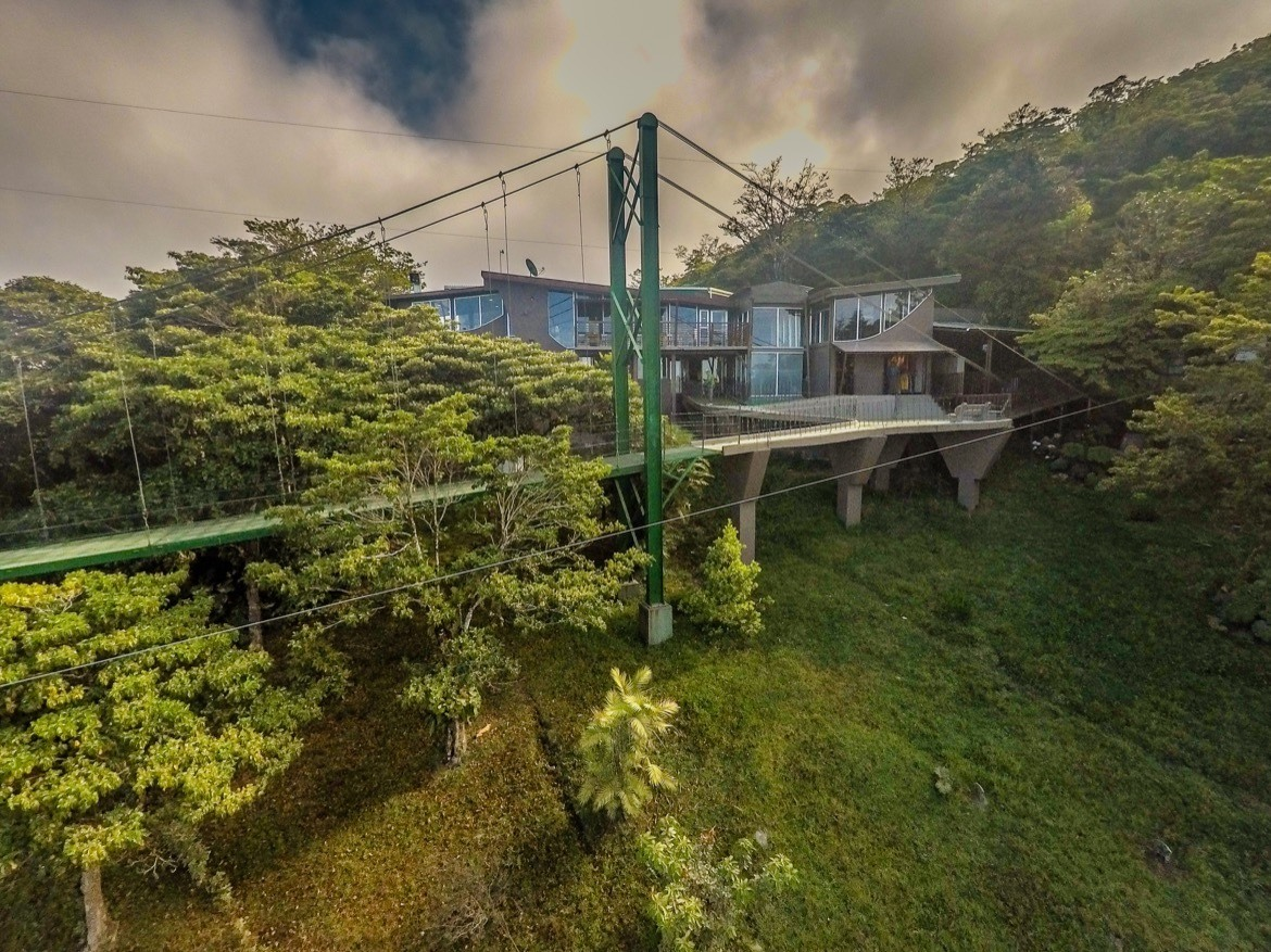 The Sky Adventures base in Monteverde, Costa Rica