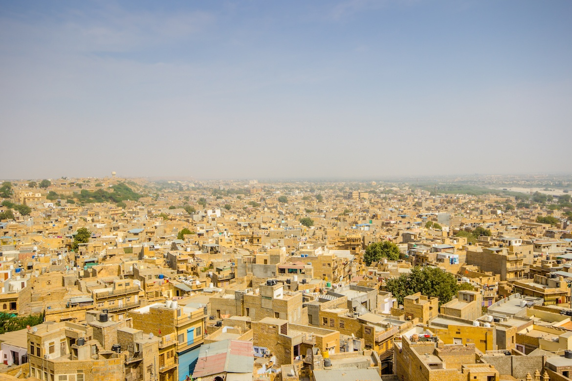 The view from Cannon Point in Jaisalmer, India