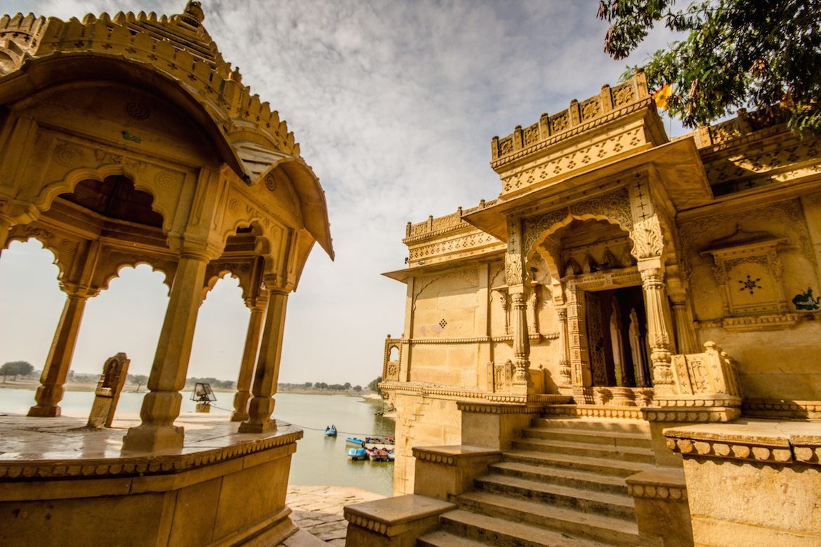 Gadisar Lake in Jaisalmer, India