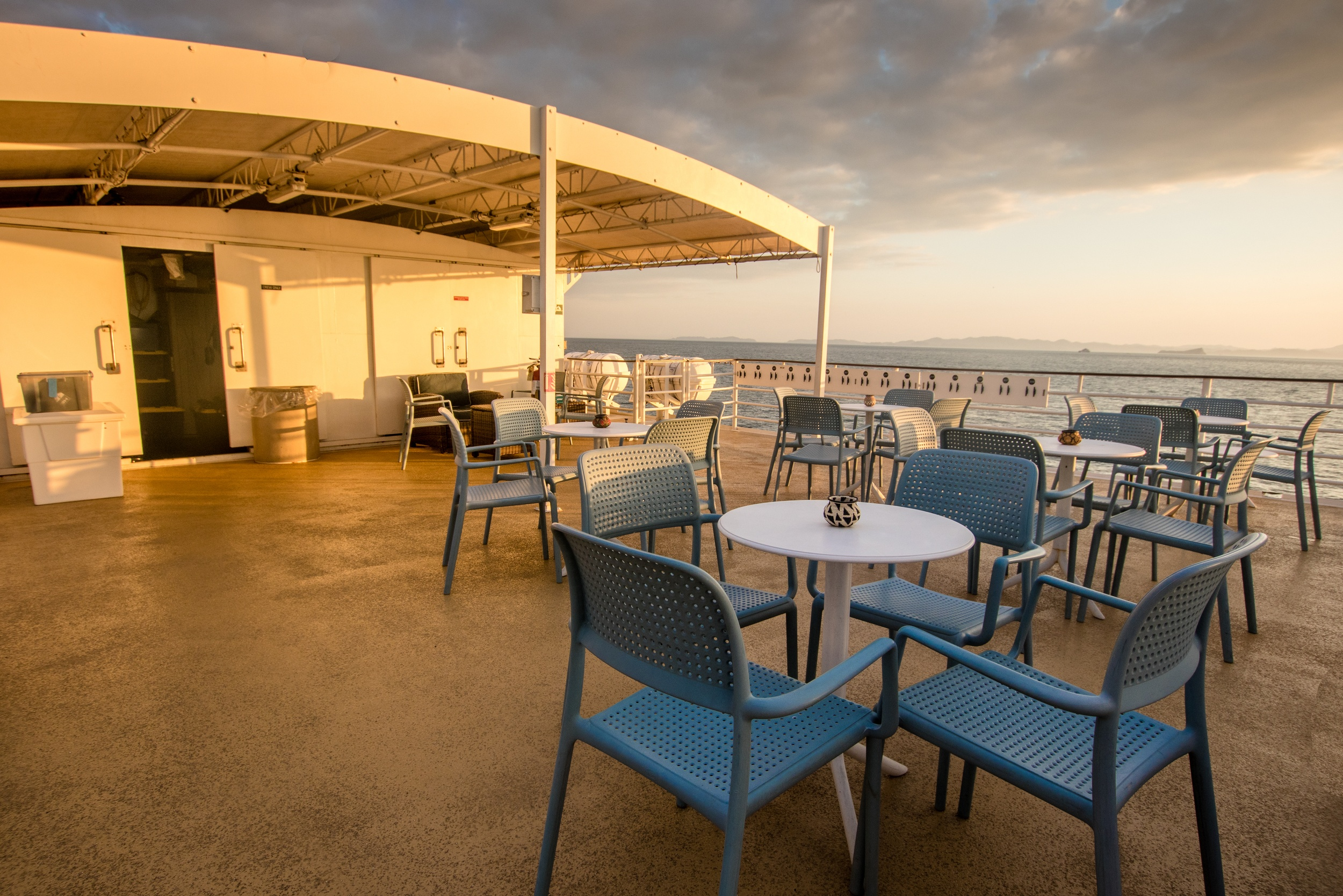 The top deck of the Safari Voyager with UnCruise Adventures
