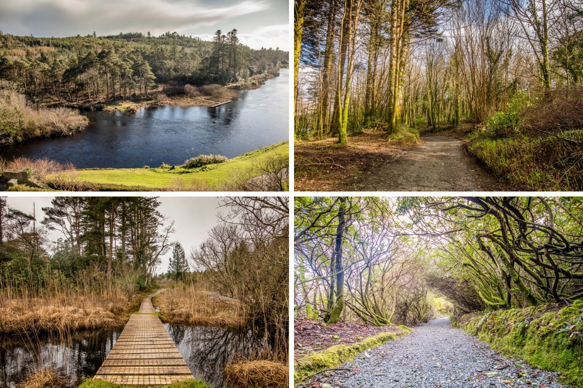 The grounds around Ballynahinch Castle