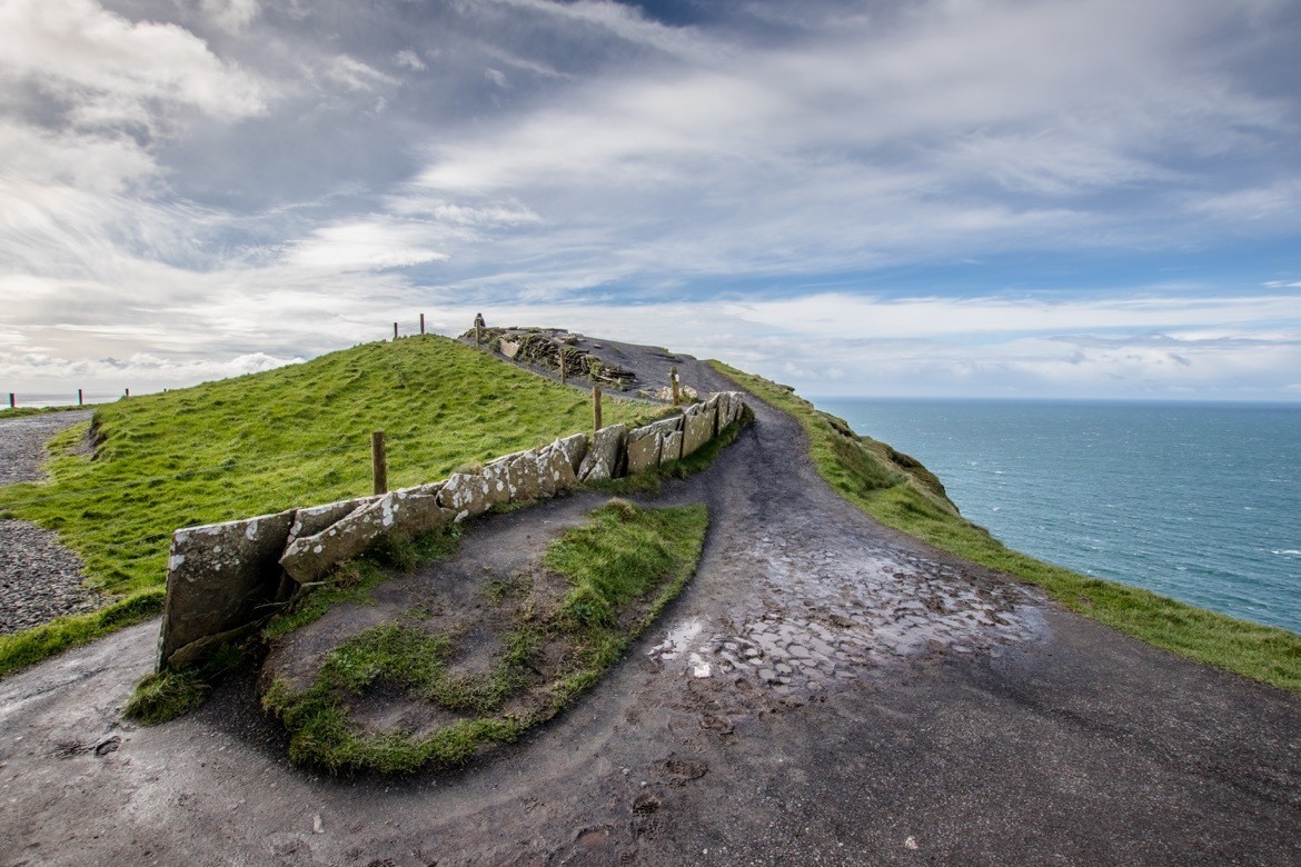 Walking along the Cliffs of Moher