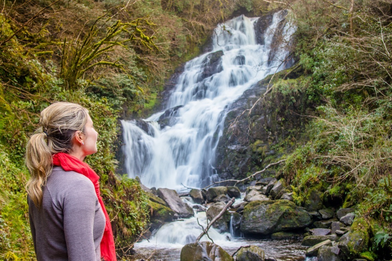 The Torc Waterfall in Kiillarney National Park, Ireland