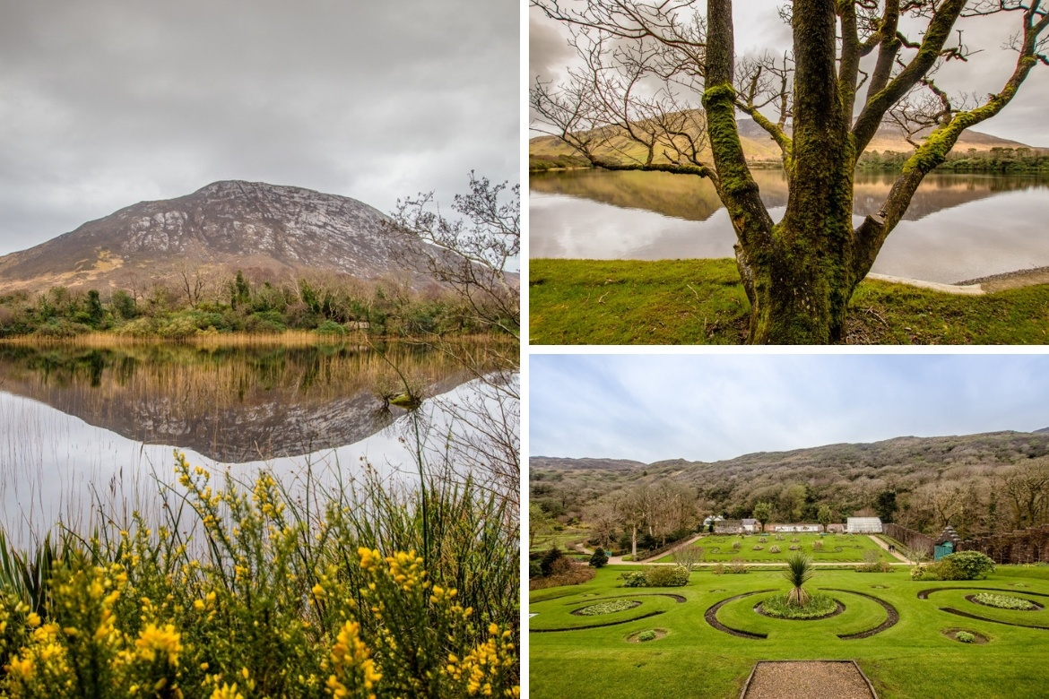 The grounds at Kylemore Abbey
