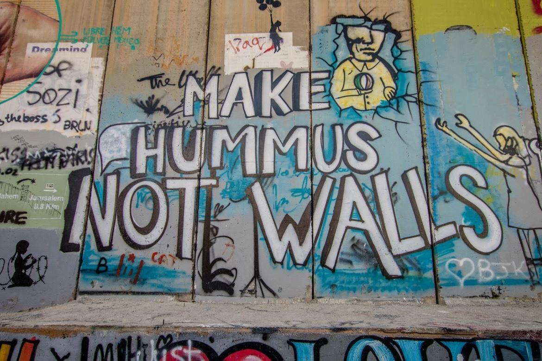 The separation wall in Bethlehem, Israel