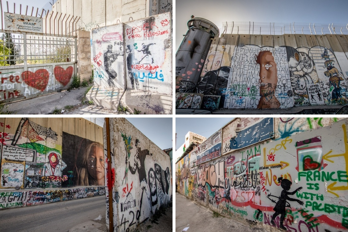 The separation wall in Bethlehem, Israel