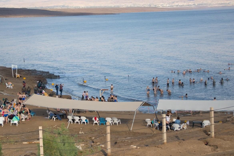 Neve Midbar Beach at the Dead Sea in Israel