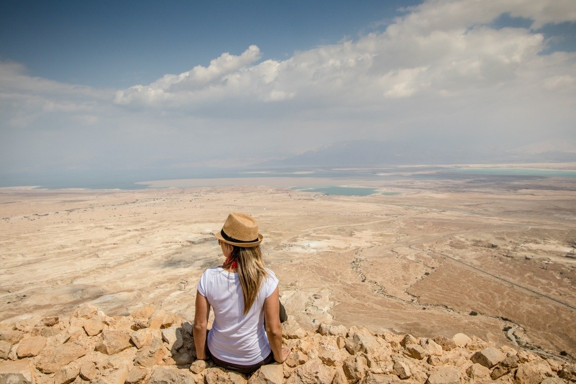 Masada National Park in Israel is one of the best day trips from Tel Aviv