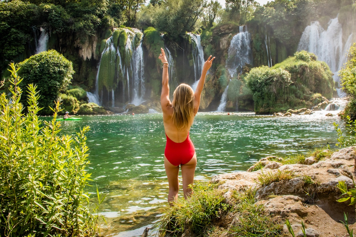 The Kravice Waterfalls are the perfect Mostar day trip