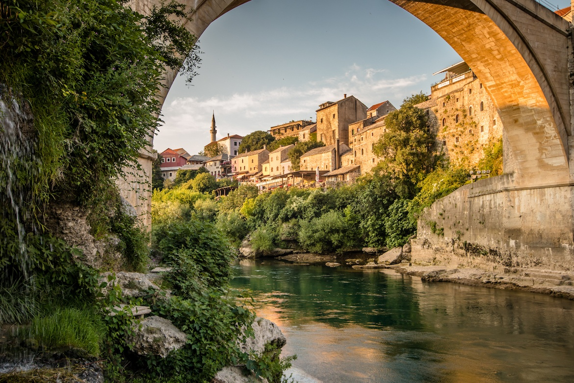 The old town in Mostar is one of the best places to visit in Bosnia