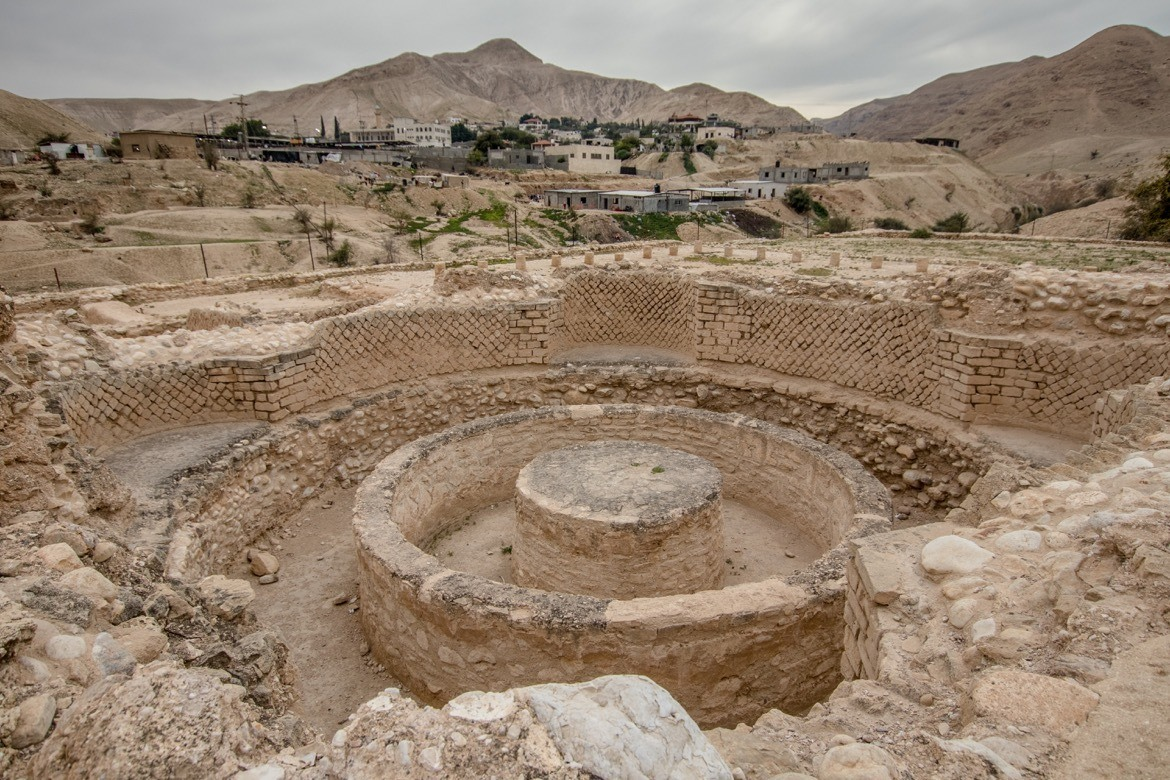 The ruins of King Herod's palace in Jericho are one of the top things to see in Palestine