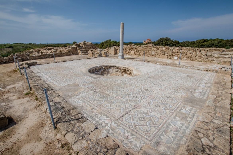 The ruins in The church in Agios Georgios, Cyprus