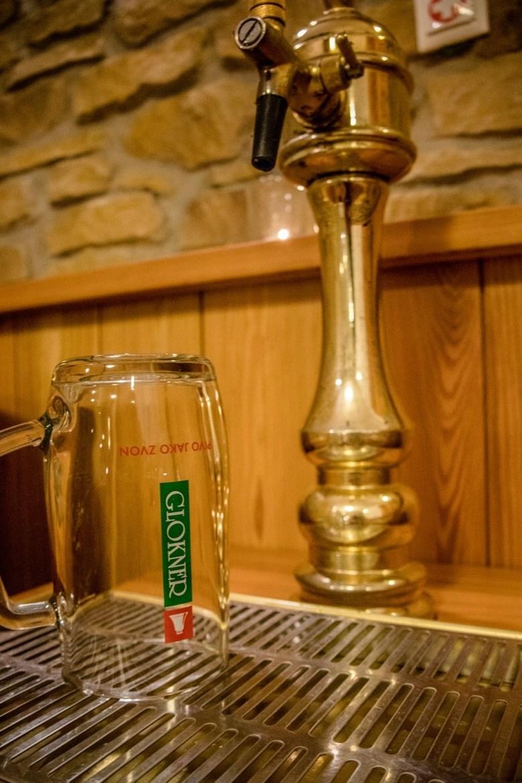 A keg in a beer spa in the Czech Republic