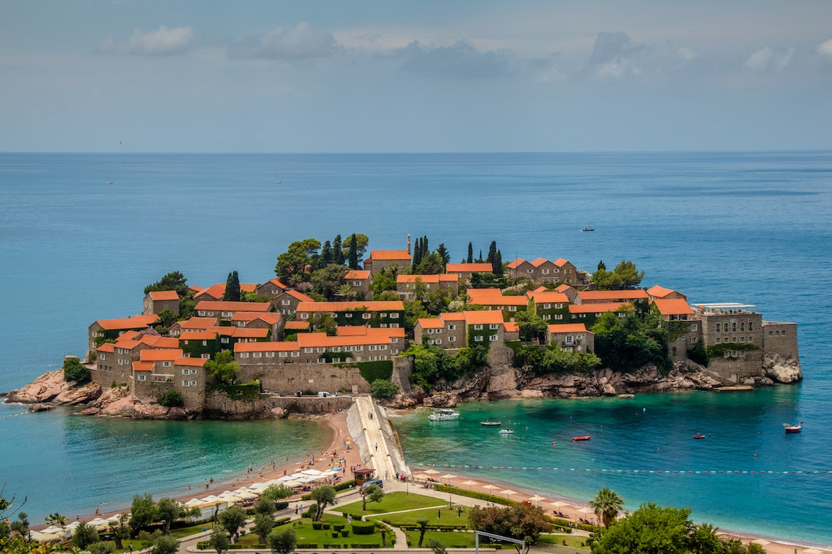 A day trip to Sveti Stefan is one of the best things to do in Kotor, Montenegro